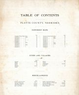 Table of Contents Platte County 1899 Nebraska  map online